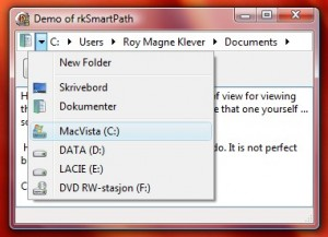 ScreenShot of demo program