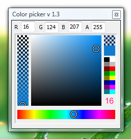 Small but smart colorpicker