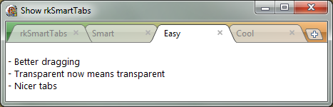 Transparent tabs