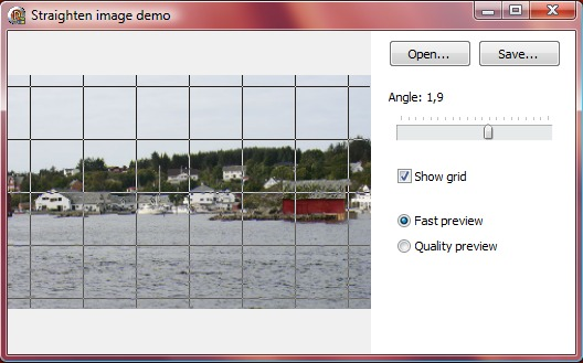 Image straighten demo
