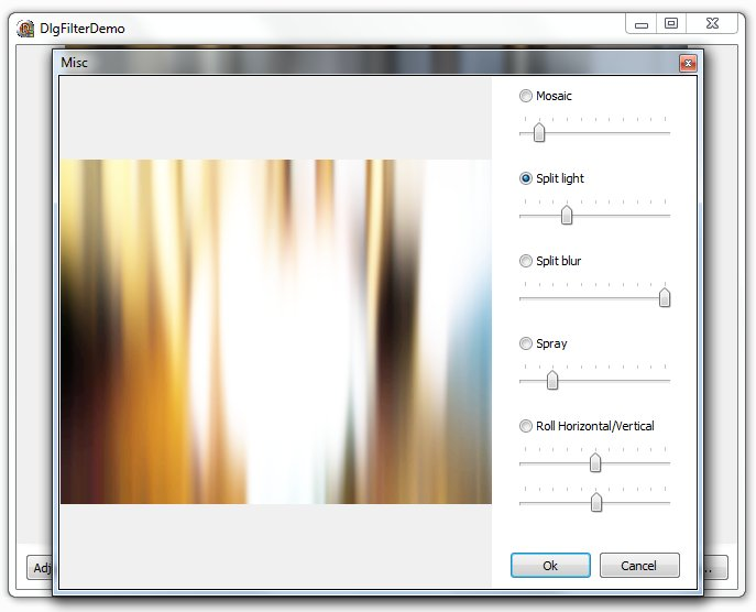An image of a filter dialog